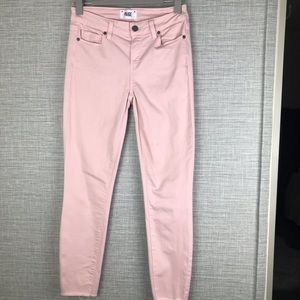 Paige Verdugo Ankle Pink Jeans Size 27